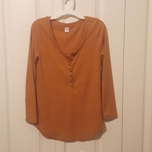 Old Navy rib knit Henley top